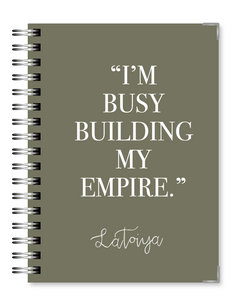 Olive Gray Empire 2021 Business Planner - Text Customization
