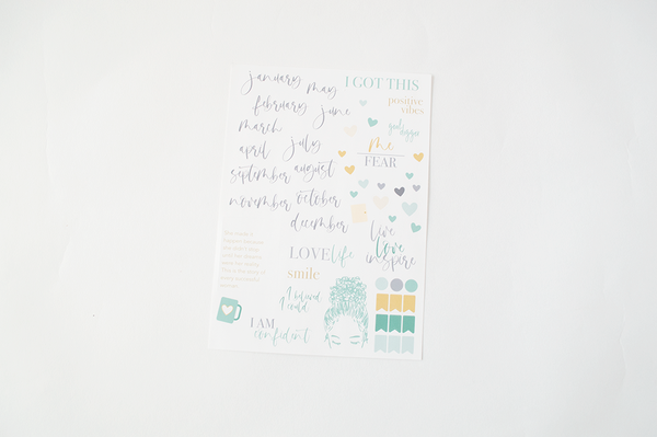 Live Love Inspire Notebook: Classic Teal