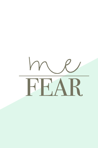Live Love Inspire Notebook: Me Over Fear