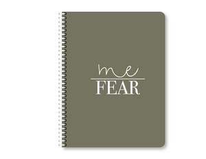 """Me Over Fear"" Mini Lined Notebook"