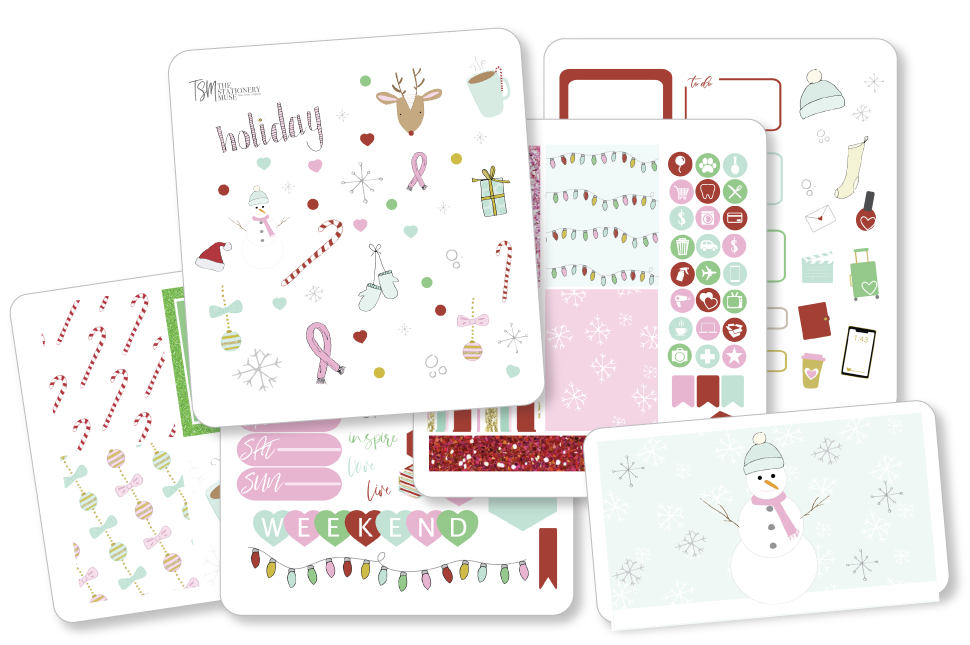 Merry and Bright Doodle Sticker Kit