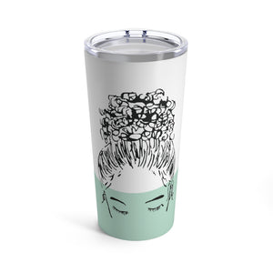 CUSTOMIZED Bun Girl Tumbler: Mint