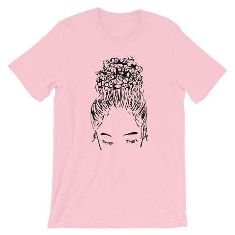 Bun Girl Crew Shirt - Pink