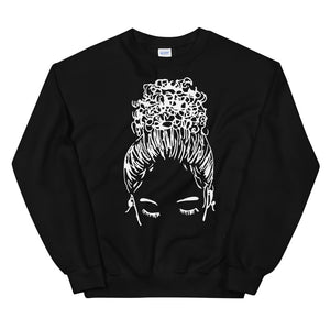 Bun Girl Sweatshirt - Black