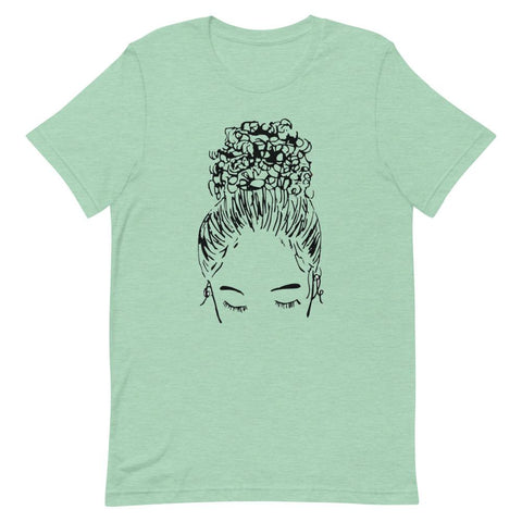 Bun Girl Crew Shirt - Mint