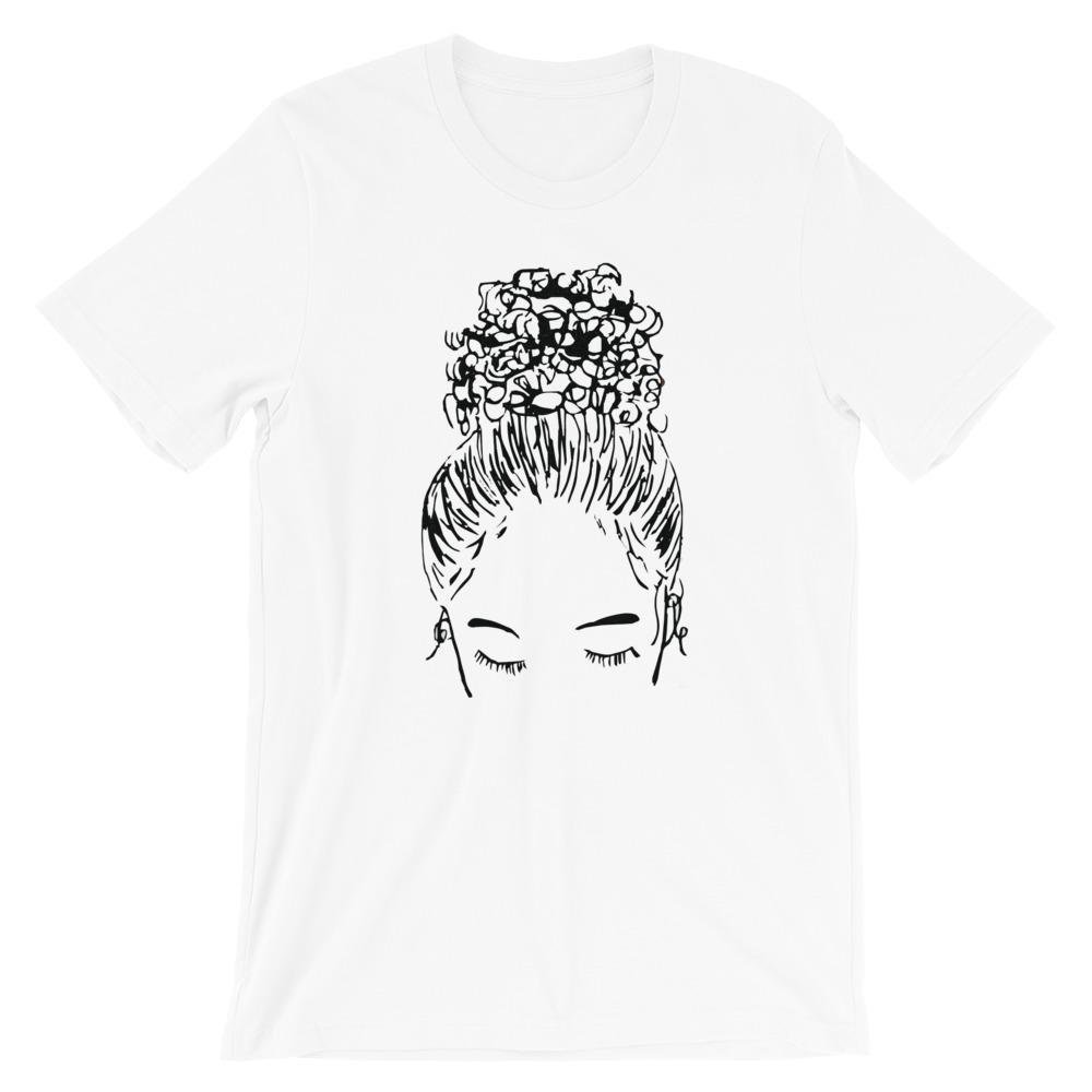 Bun Girl Crew Shirt - White