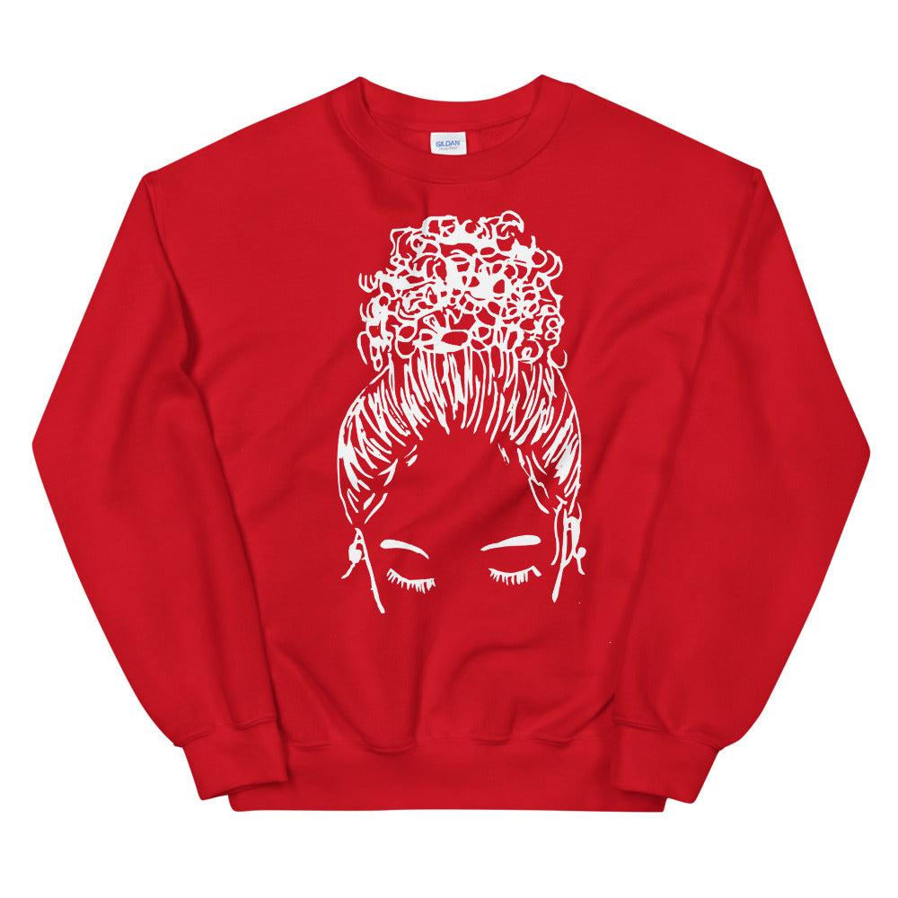 Red Bun Girl Sweatshirt | Limited Edition Holiday