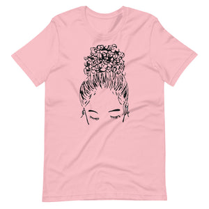 Pink Bun Girl Crew Shirt | Limited Edition Breast Cancer Collection