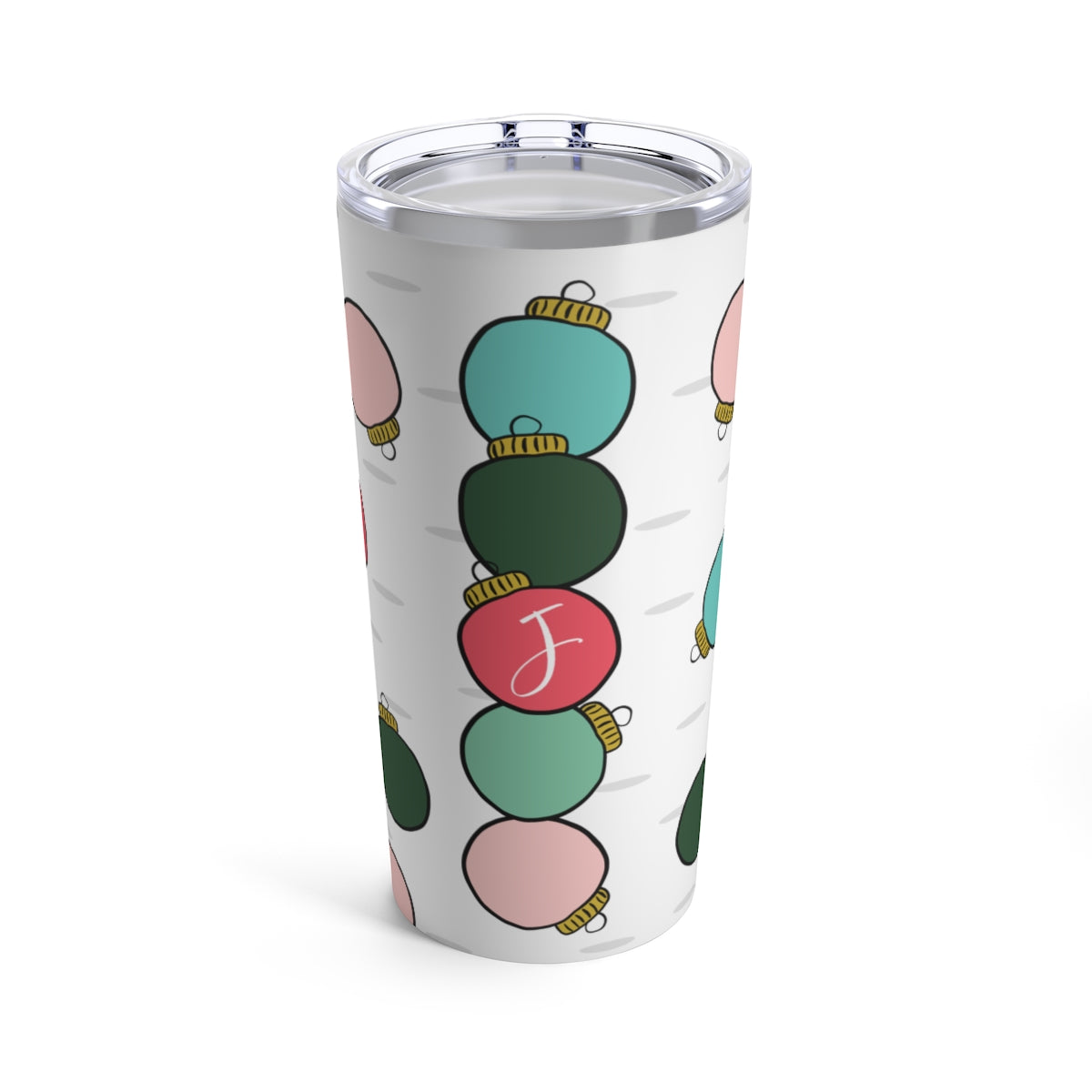 CUSTOMIZED Ornament Letter Tumbler | Limited Edition Holiday