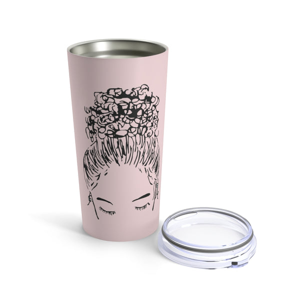 CUSTOMIZED Bun Girl Tumbler: Pink | Limited Edition Breast Cancer Collection