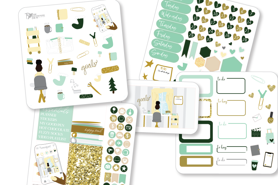 Planner Girl Winter Sticker Kit