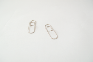 Pen Holder Paper Clip Set - SILVER