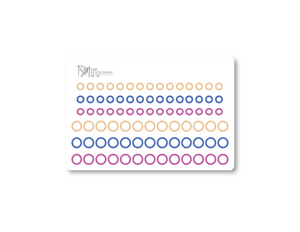 Mini Border Dot Planning Stickers: Sorbet