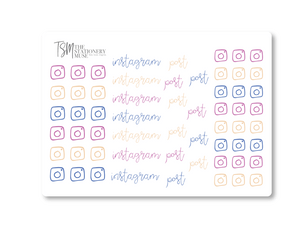 Instagram Social Media Sticker Sheet: Sorbet