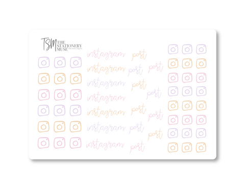 Instagram Social Media Sticker Sheet: Spring Jewels