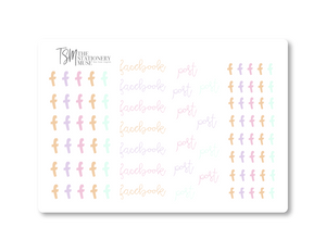 Facebook Social Media Sticker Sheet: Spring Jewels