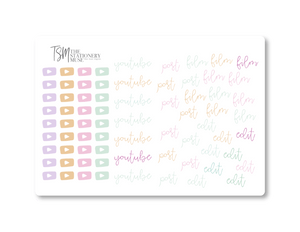 YouTube Social Media Sticker Sheet: Spring Jewels