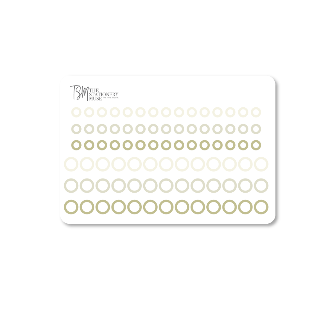 Mini Border Dot Planning Stickers: Classic Colors