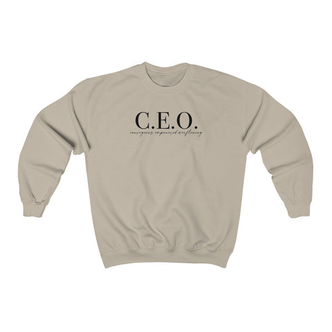 CEO Mindset Sweatshirt - Tan