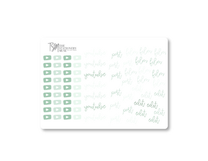 YouTube Social Media Sticker Sheet: Classic