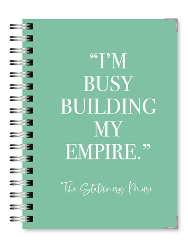 Teal Empire 2021 Business Planner - Text Customization