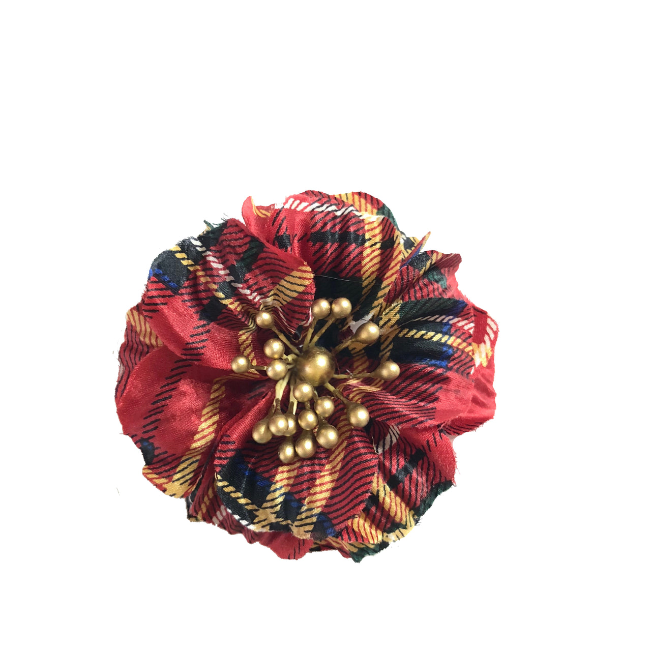 Interchangeable Red Tartan Satin Floret (CUFF SOLD SEPARATELY)
