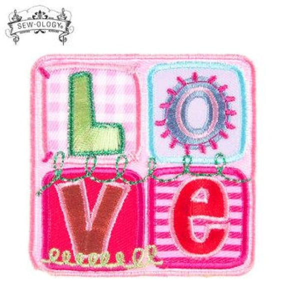 Love Square Iron-On Patch - Crafters Supply
