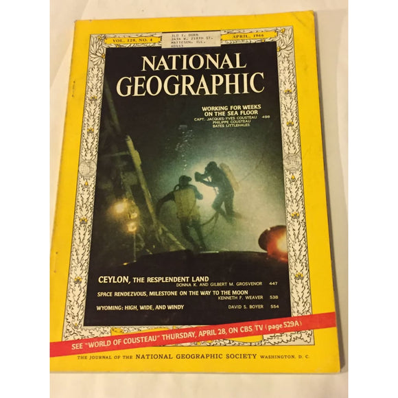 National Geographic Magazine April 1996 - Vintage Collectibles