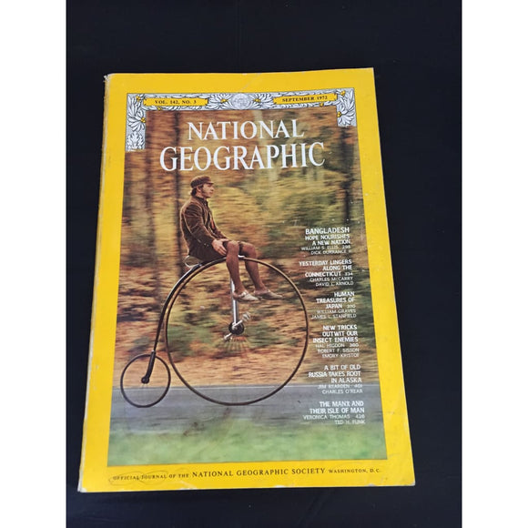 National Geographic magazine September 1972 - Vintage Magazine