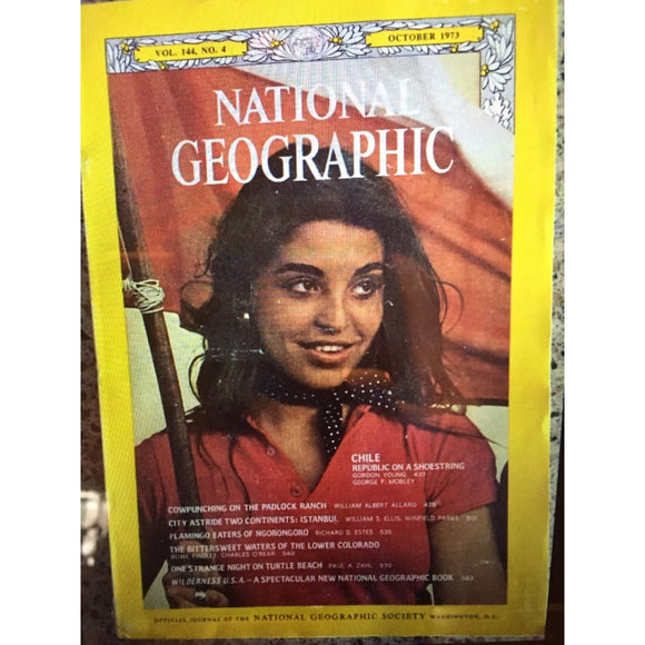 National Geographic October 1973 Republic Of Chili Istanbul Turtle Beach - Magazine