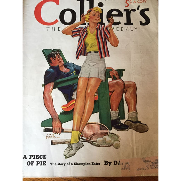 Vintage Colliers Magazine August 21 1937 - Vintage Collectibles