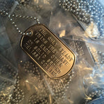 On Solid Ground Dog Tag