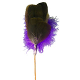 Purple Goose Feather Toy