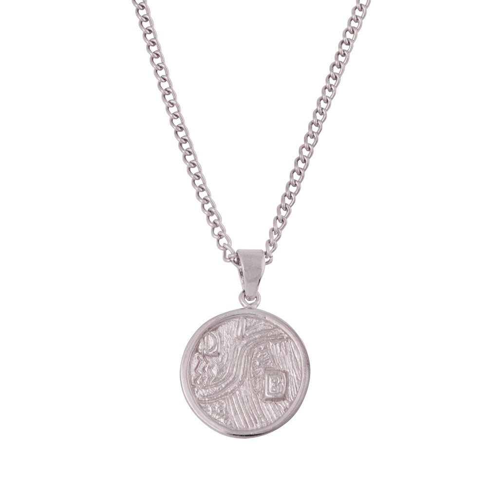 Adele coin necklace Rhodium