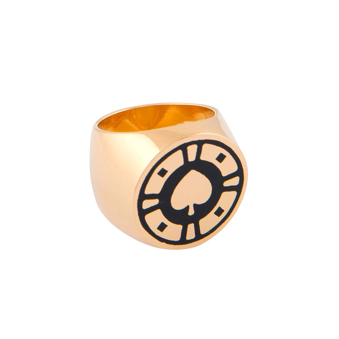 Jackpot Black Casino Ring