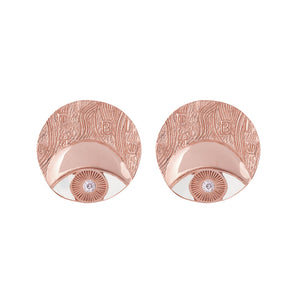 ADELE CIRCLE EARRINGS ROSEGOLD