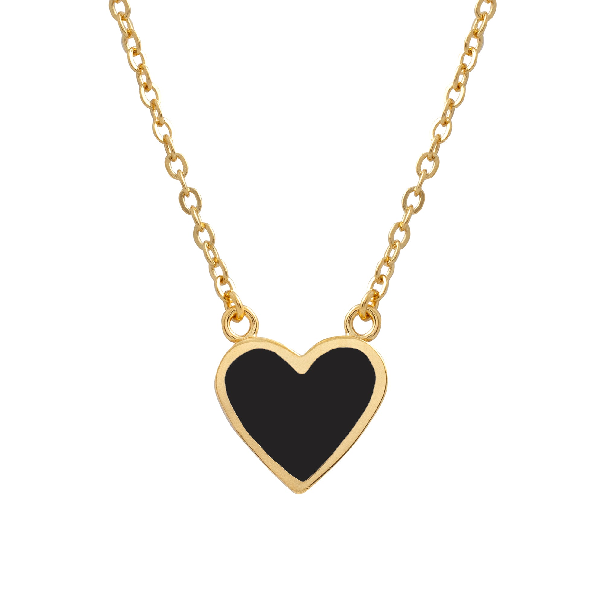Heart Necklace Black