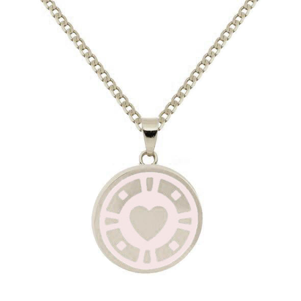 Casino Pendant Necklace Rhodium NUDE