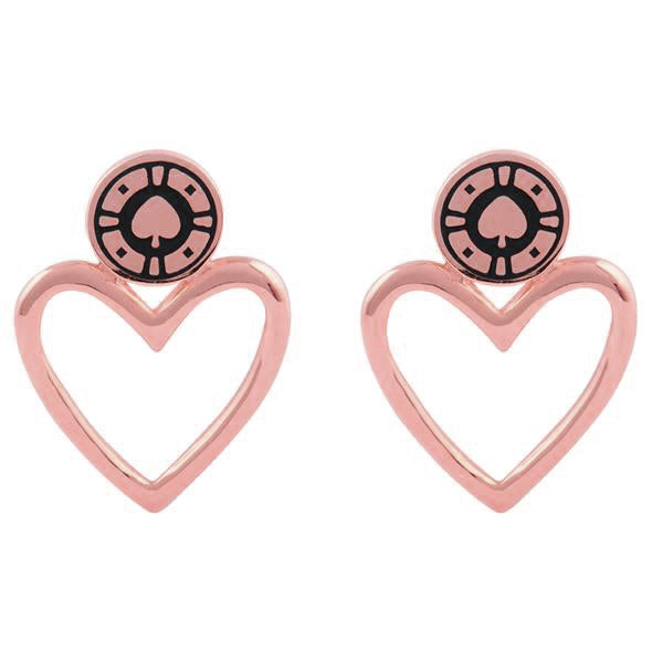 Jackpot Rose Gold Earrings