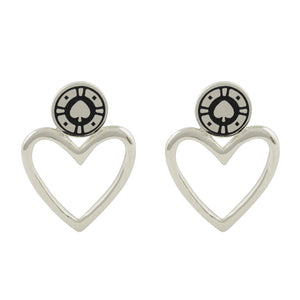 Jackpot Rhodium Earrings
