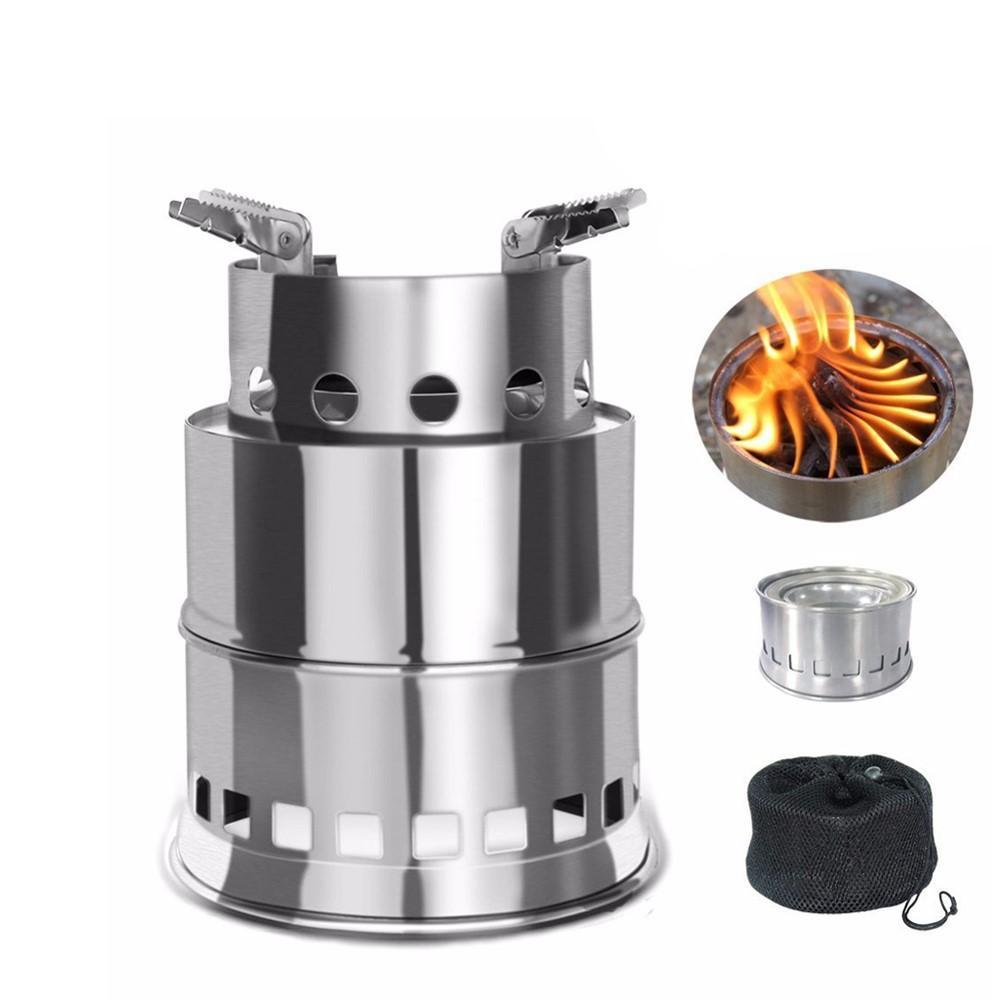 Portable Stainless Steel Wood-Burning Stove