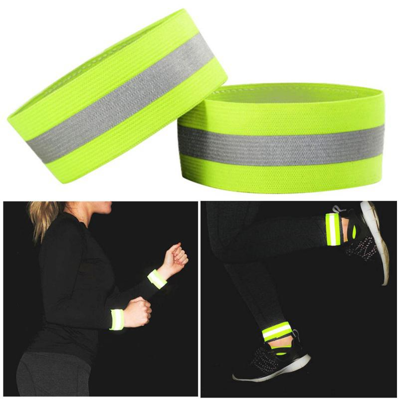 1pcs Reflective High Visibility Elastic Wrist/Ankle/Arm Bands