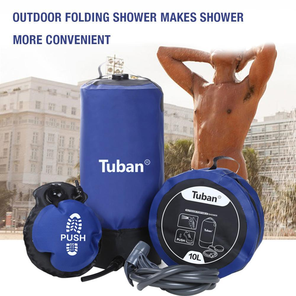 Portable Outdoor Shower - 10L PVC High Pressure Shower Setup