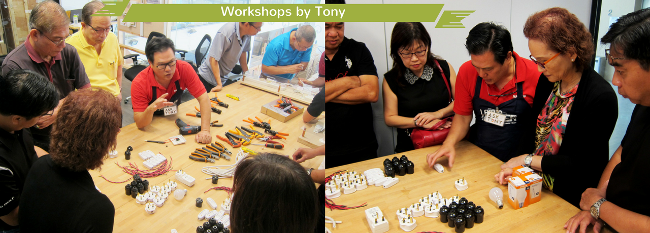 Workshops by Tony