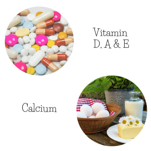 Vitamin D, A, E and calcium for improving menopause symptoms