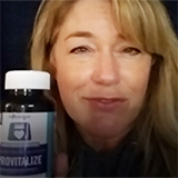 Nancy promoting the provitalize product