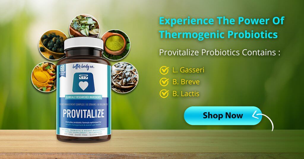 Provitalize Banne Experience the Power of Thermogenic Probiotics