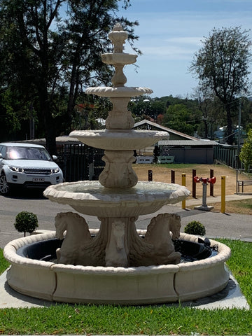 4 tier Quarter horse fountain wave pond