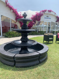 3 tier diamond fountain with acorn traditional pond