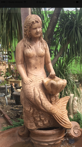 Mermaid fountain statue
